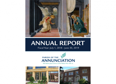 2018-19 Annunciation Parish Annual Report